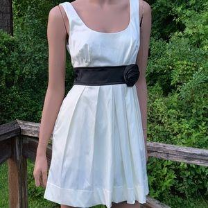 Satin Sleeveless Mini Dress